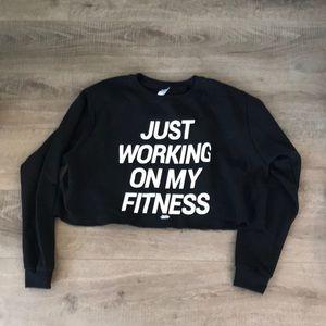 Just working on my fitness crop sweatshirt